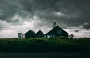 Country house in a storm