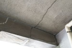 Foundation inspection in home for cracks and defects